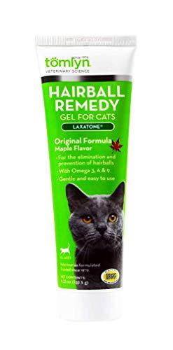 Vetoquinol tomlyn Hairball Remedy Gel para Gatos, Arce, con sabores (laxatone) 4,25oz