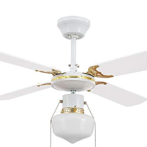 Ventilatore da Soffitto Havoc Bianco Bianco