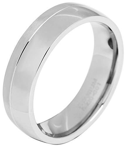 Akzent Herren-Ring aus Titan Größe 70