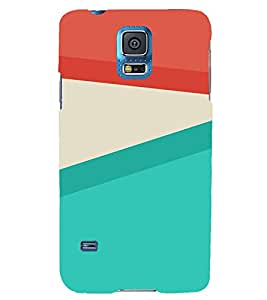 VINTAGE SLANTING STRIPES PATTERN 3D Hard Polycarbonate Designer Back Case Cover for Samsung Galaxy S5 Mini :: Samsung Galaxy S5 Mini G800F
