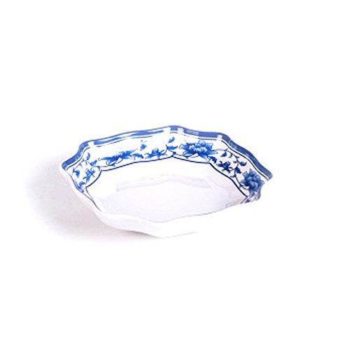 Daeou Porcelaine bleue et blanche casse-croûte plaque plaque de mélamine vermicelles de riz plaque plaque plat dessert plaque snack