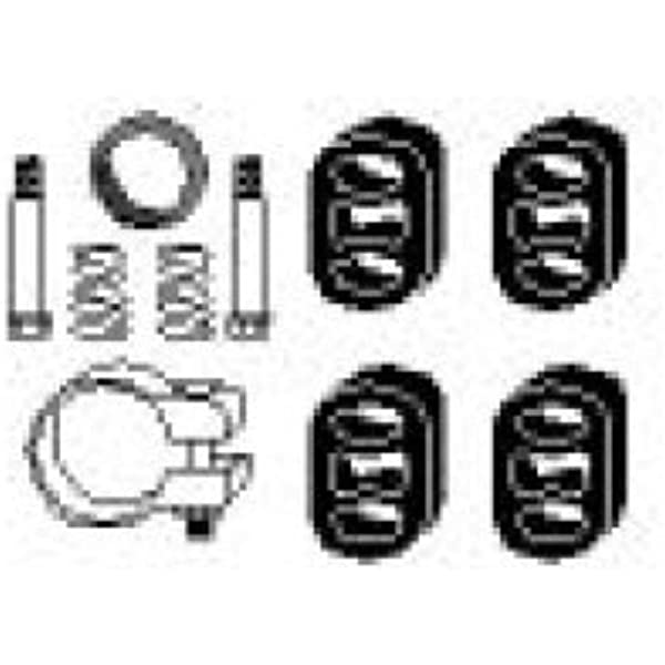 Hjs 82143382 Montagesatz Schalldämpfer Auto