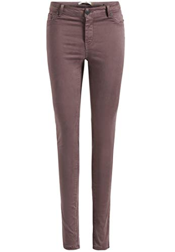 khujo Damen Hose ON Stage Mauve lila Stretch-Röhrenhose Slim-Fit 5-Pocket-Stil