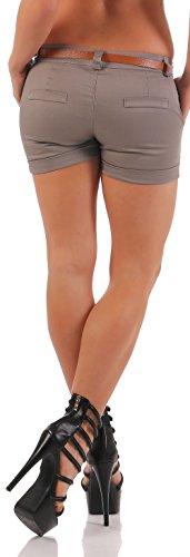 malito Hot Pant Classique Design Chino court Pantalon 5397 Femme Fango