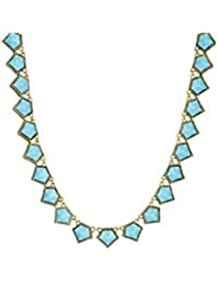 House of Harlow 196014K Gold Gilding, Jewels of Java Necklace Resin Turquoise