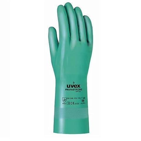 Uvex Nitril- / Chemikalienhandschuh - Hochwertiger Schutzhandschuh gegen chemische und mechanische Risiken (9)