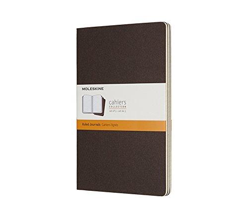 Moleskine Coffee Brown Large Ruled Cahier Journal (Set of 3)