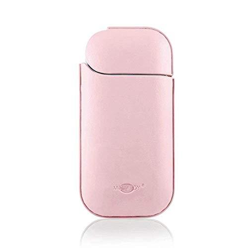 MONOJOY iQos caso elettronico sigaretta Custodia in pelle, portatile per il trasporto e per evitare graffi, per iQos (rosa)