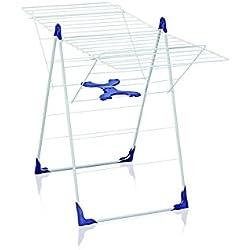 Leifheit Séchoir sur pied Classic 200 Flex, étendoir à linge résistant à l'eau avec hauteur réglable, sèche linge avec longueur d'étendage de 20 m