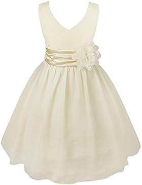Freebily Vestido Infantil sin Mangas para Niña (2-14 años) Vestido Elegante de Princesa Chica