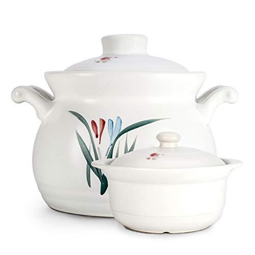 Chinese Style Pot, Household Pot Porridge Pot Bone Soup Pot Seafood Pot Hotel Pot Heat Resistant Pot Multi-Function Pot (Color : A)