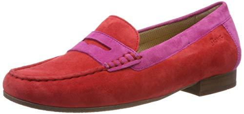 Sioux Damen Corbina Mokassin, Rot (Fire/Pink 005), 40.5 EU