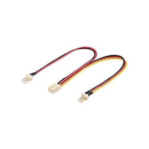 GOOBAY Câble d'alimentation interne pour ventilateur 2 fiches 3 broches vers 1 prise 3 broches