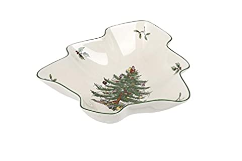 Spode Christmas Tree Dish, Ceramic, Multi-Colour