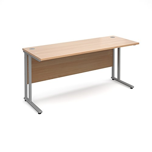 Compare Prices for BiMi Slimline 1600mm x 600mm Rectangular Straight Desk in Beech Special