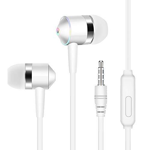 Neubula In-Ear Kopfhörer, Stereo-Headset Sport Metallisches Earphones mit Mikrofon und Lautstärkeregelung Bass, 3,5mm Klinkenbuchse für iPhone, Android Smartphones und MP3 Players usw, Schwarz