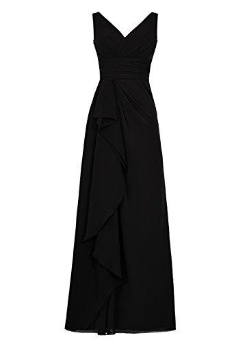 Dresstells Damen Homecoming Kleider Abendkleider Brautjungfernkleider Schwarz
