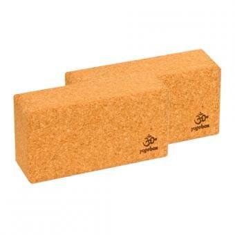 Lot de 2 blocs de yoga Basic - liège, 23 x 12 x 7, 5 cm - Liège 100 % naturel