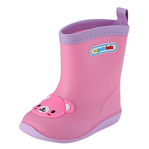 WEXCV Unisex Baby Jungen Mädchen Kinder Einfarbig Cartoon Tier Schuhe Gummistiefel Kinderschuh rutschfest Wasserdicht Schuhe Regenstiefel Stiefel