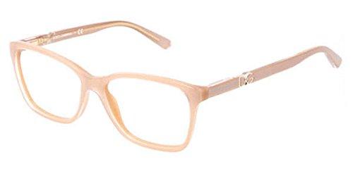 Dolce & Gabbana Für Frau 3153p Iconic Logo Pearl Sand Kunststoffgestell Brillen, 54mm