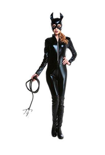 Ideen Mädchen Kostüm Catwoman Für (Honeystore Damen Halloween Catwoman Kostüme Rollenspiel Cosplay Spiel Uniform Allerheiligen)