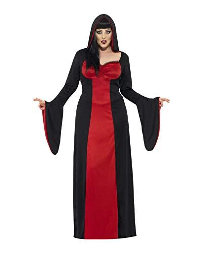 Horror-Shop Dunkle Verführerin Plus Size Kostüm XL