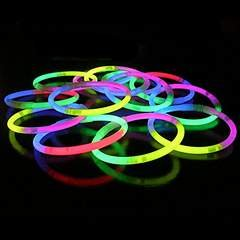 50 GlowSticks Tri colour glow sticks glosticks bracelets by GLOW-MANIA