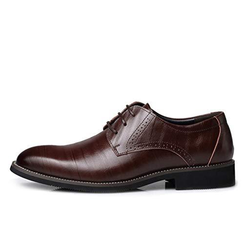 Feidaeu Herren Business Schuhe für Herren Ledermode Flache Schuhe mit flachen Punkt städtischen Arbeitsschuhe (Kostüm Herr Kobold)