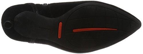 Rockport Damen Total Motion 75mm Pointy Toe Pump Strap Bootie Kurzschaft Stiefel Schwarz (BLACK KID SUEDE) y2oQa