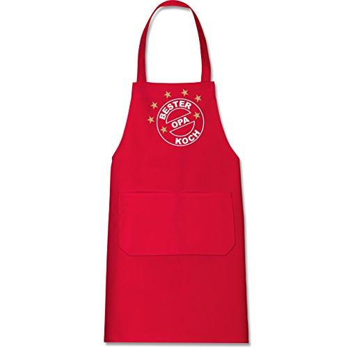 Küche – Bester Koch Opa – Kochschürze mit Tasche