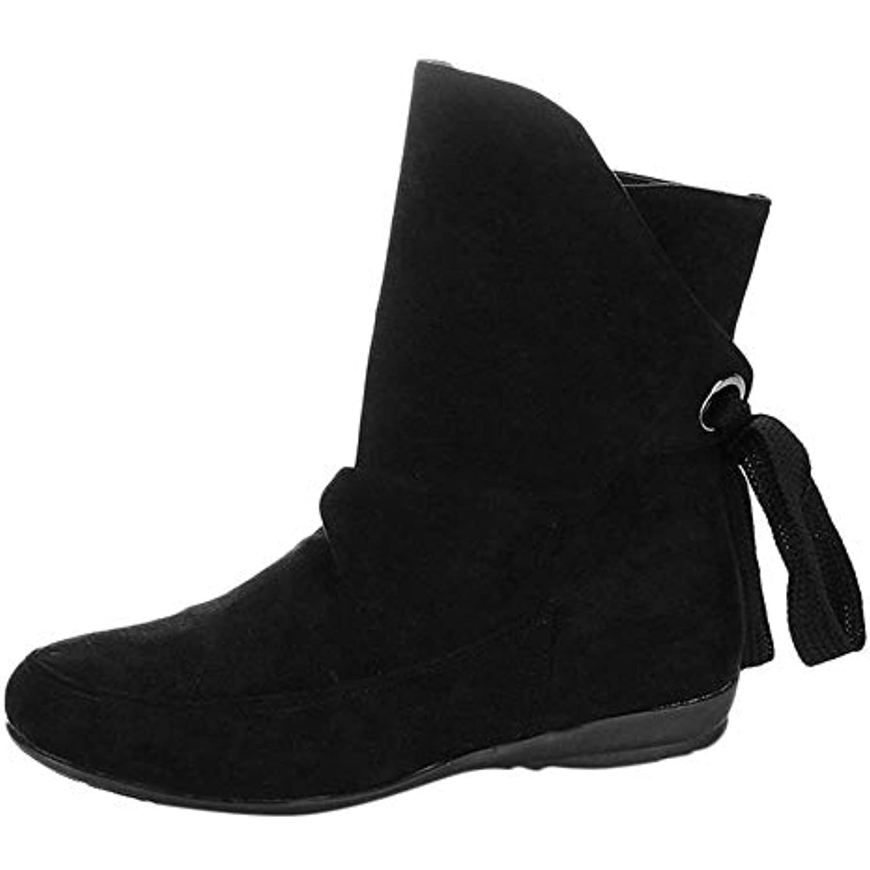 Bottes Femme Binggong Hiver Bottines Compensées en en Compensées Daim Femme, Femmes Chaussures à Lacets 7cb5bcd61608