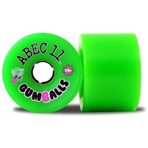 ABEC 11 ruote Longboard serie 75A Gumballs 76 millimetri (4 rotoli) - skateboard longboard wheels - Longboard Rotolo