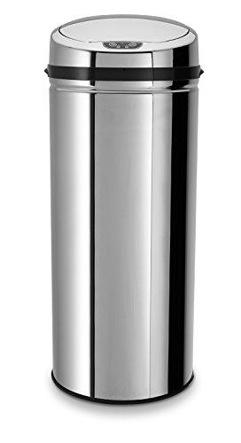 ECHTWERK® EW-AE-0220 Design Edelstahl Abfalleimer INOX mit Sensor 42l