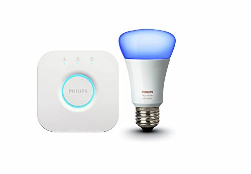 Philips Hue Mini Starter with 10W E27 Bulb  (White & Color), Compatible with Amazon Alexa, Apple HomeKit, and The Google Assistant