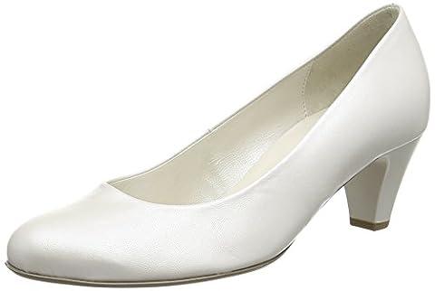 Gabor Vesta 2, Ballerines et talons femme - Blanc Cassé - Off White (Off White Pearlised Leather), 40 EU (6.5 UK)
