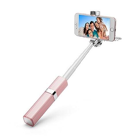 Rouge à lèvres Selfie Stick Portable Mode monopode Poche filaire Selfie bâton extensible pour iPhone 766S Plus 5S Samsung S7S6S5S4Note 2345HTC LG smartphones Android