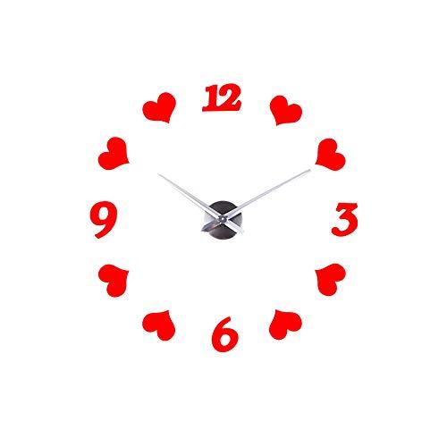 OGGID Reloj Moderno Espejos sin Marco Movimiento Silencioso, 3D DIY Reloj de Pared Adhesivo con Números...