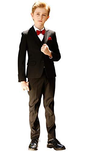 ELPA ELPA Graue Anzug Jungen Smoking Anzug Kinder Kostüme dünne Klage Formelle Kleidung, Schwarz, - Smoking Anzug Kostüm