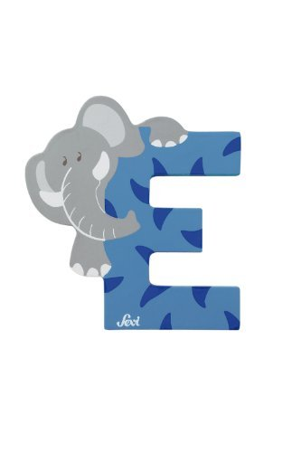 Buchstabe E blau