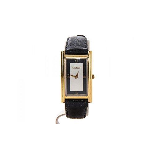 Orologio Gucci Donna 2600M Al quarzo (batteria) Acciaio placcato oro giallo Quandrante Bianco Cinturino Pelle