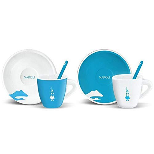 Bialetti - Set 2 tazzine caffè + piattini e palette decoro NAPOLI