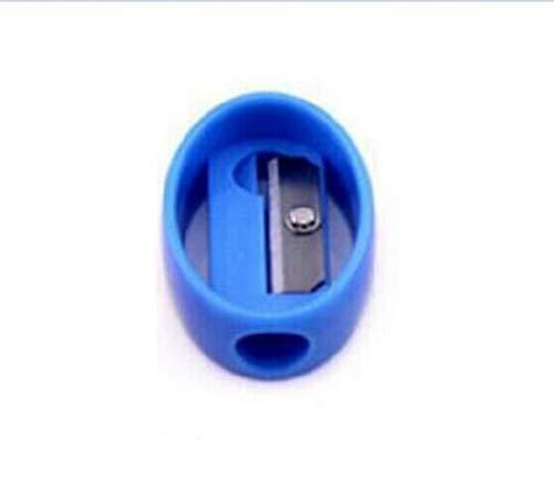 Anspitzer 1 Stück Mini Candy Farbe Einlochmontage Tragbare Anspitzer Student Schreibwaren (Blau)