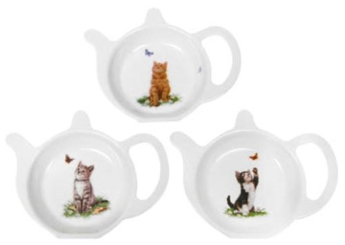 macneil-studio-kittens-melamine-teabag-tidy-tray-featuring-a-black-and-white-cat