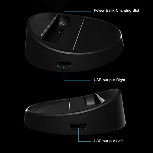 XECH Satellite HUB Wireless Power Bank with Stand 10000 mAH for Qi Enabled Telephones, Fast Charging with 4 USB Ports (Black) Image 3