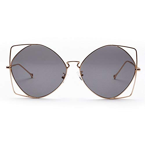 Dtuta Sonnenbrillenaufsatz FüR Brille Damen MäNner Und Frauen UnregelmäßIgen Metallrahmen Einzigartige Neuheit Mode LäSsig Leichte Sonnenbrille Sonnenschirm Augenschutz Sonnenschutzbrille
