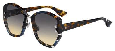 Dior Sonnenbrillen ADDICT 2 BLUE HAVANA/GREY BROWN SHADED Damenbrillen