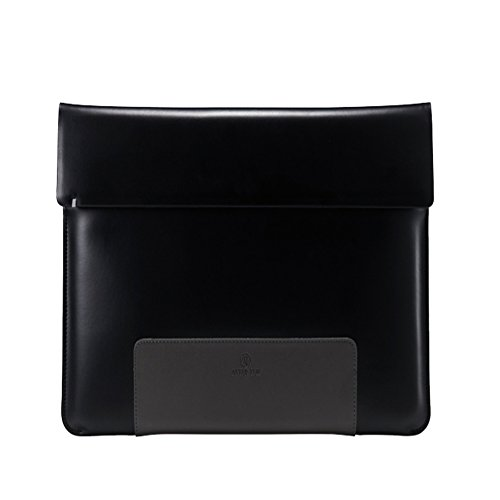 afterten Zwei Ton MacBook Pro Retina 38,1cm Ultrabook Leder Tasche Schwarz (Tote Laptop Utility)