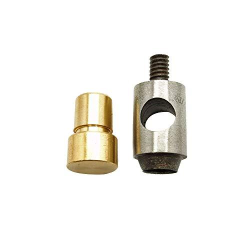 4mm-Loch Reifenplatzer sterben Set Werkzeug für UNIVERSAL Hand drücken grün für Leder, Stoff Arts & Craft Work von trimmen Shop, metall, schwarz, 5 mm