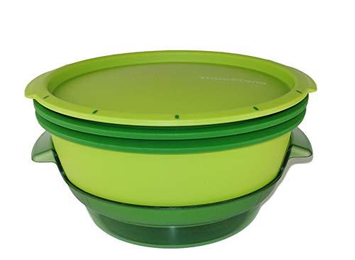 Tupperware Microondas Micro Gourmet Vaporera verde