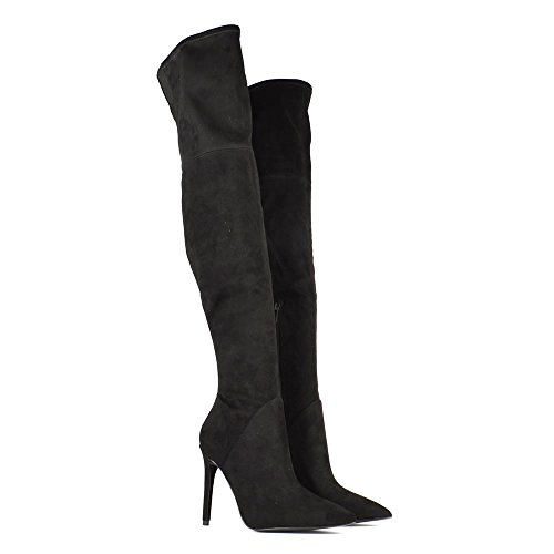Kendall & Kylie Kayla Stivali di Camoscio Nero Donna Nero